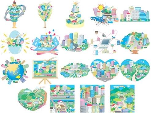 vector illustration urban theme
