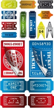 vector image label stubs