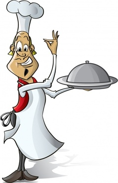 waiter icon funny cartoon character sketch