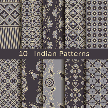 vector indian style seamless patterns