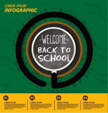 vector infographic back school