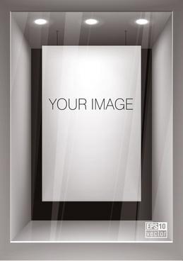 advertising board template modern luxury 3d design