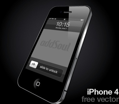 iphone 4 smartphone advertising design realistic black style