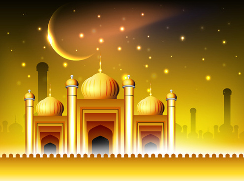 vector islamic style background set