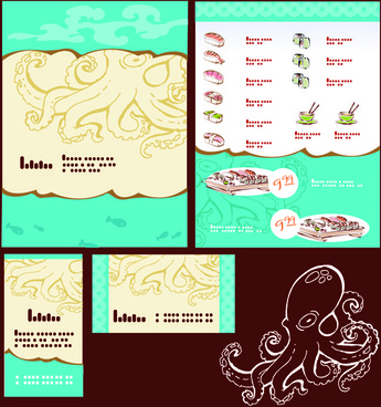 vector japan sushi menu templates
