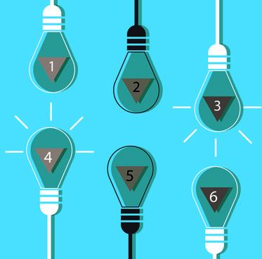 vector lamp creative idea business template