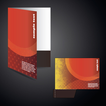 vector layout folder cover design set