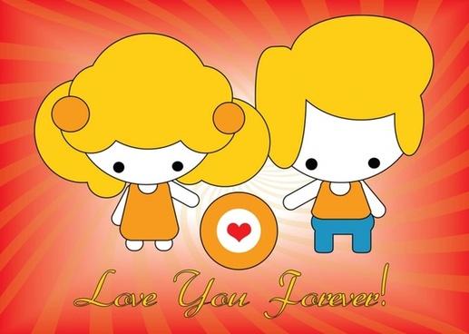 Vector Love Card