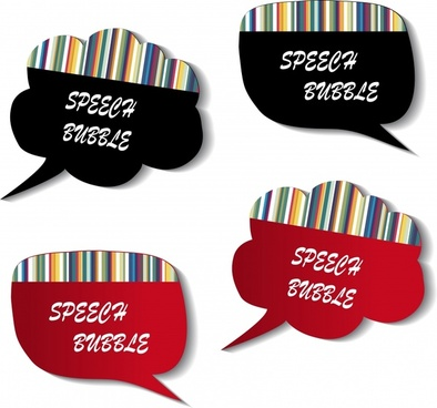 speech bubbles templates modern flat barcode decor