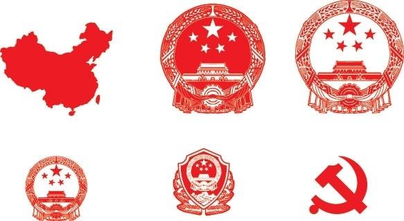 vector map of emblem
