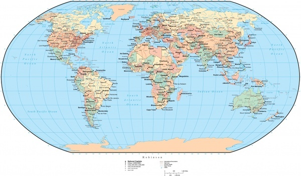 global map background modern rounded flat cut design