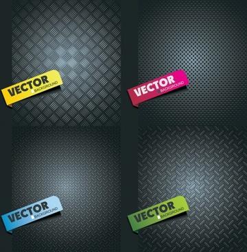 vector metal texture labels