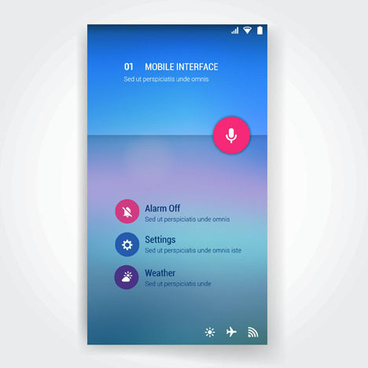 vector mobile interface template