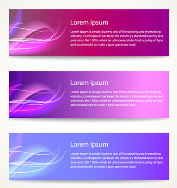 vector modern abstract banner design