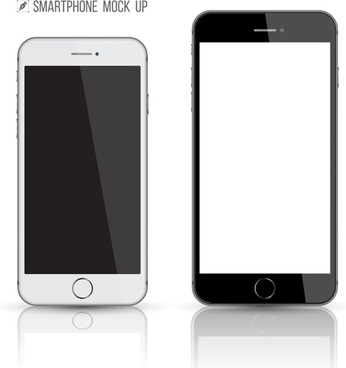 vector modern mobile template design