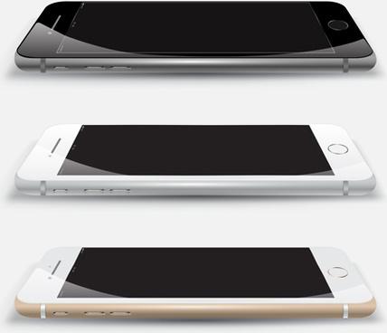 vector modern mobile template design