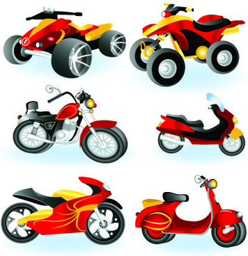 vector motorcycle design elements graphics
