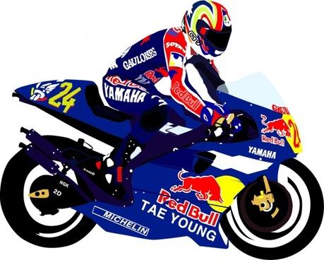 vector motorcycle race