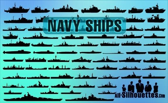 Vector Navy Ships