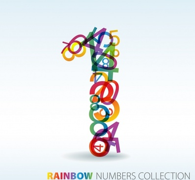 digits background number one icon modern colorful decor