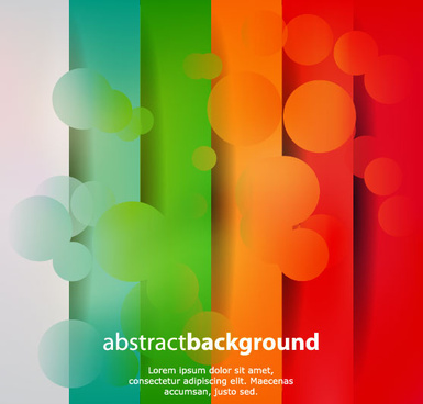 vector of abstract elements background