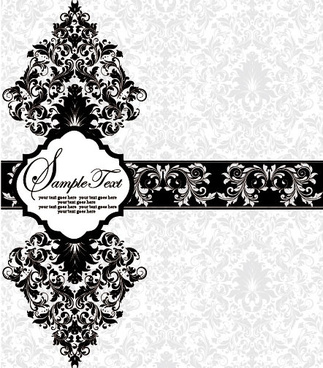vector of exquisite vintage floral borders