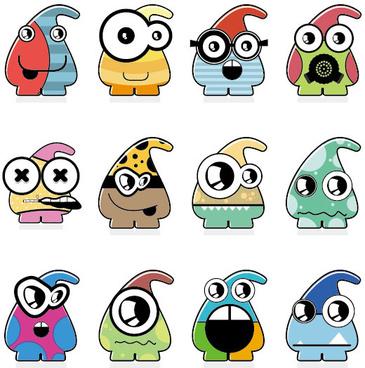 vector of funny cartoon monsters