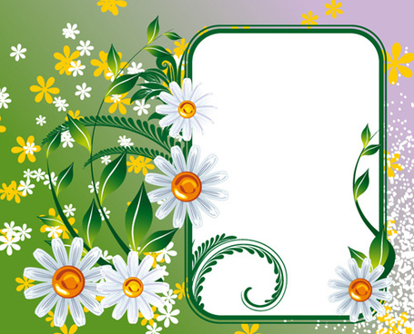 Flower frame vector free vector download (15,382 Free vector) for ...