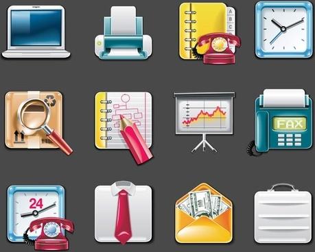 vector office supplies icon