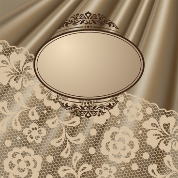 vector old lace background art