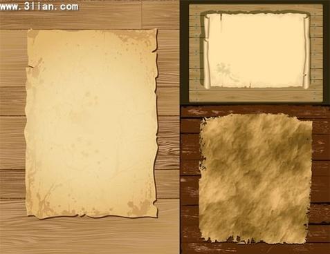 decorative background templates paper wood decor vintage design