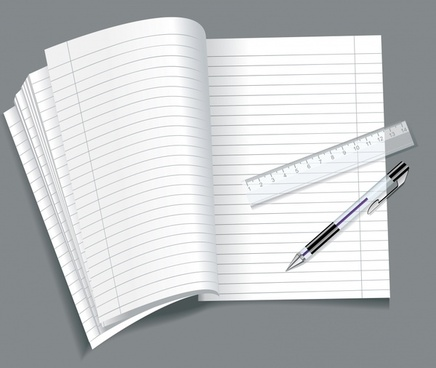 notebook background modern realistic design