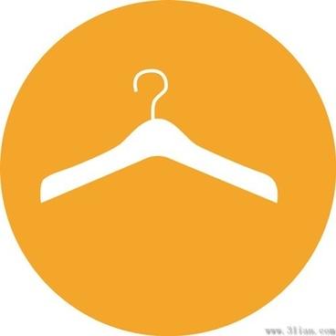 vector orange background hanger icon