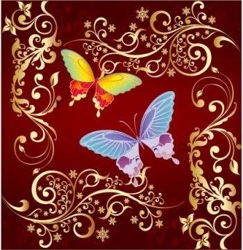 vector ornament butterfly design, illustrator vector ornament ai