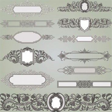 document decorative elements classical european symmetric design