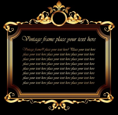 frame template classical elegant symmetrical golden decor