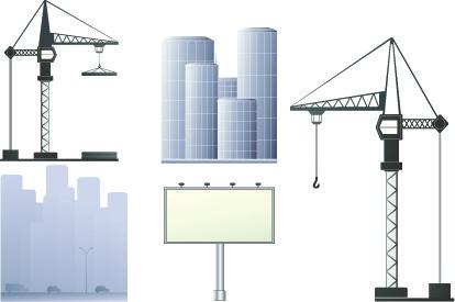 vector outdoor advertising design elements set