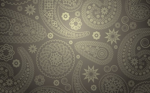 paisley pattern background flat grey seamless ornament