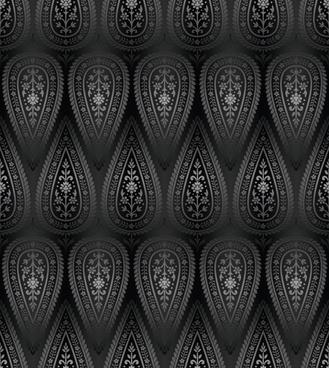 vector paisley pattern set