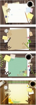 note paper background templates colored modern design