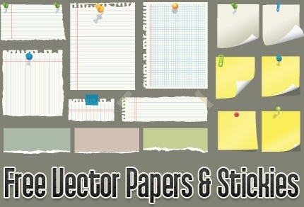 paper stickers icons collection colored flat design