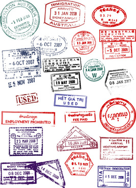 free passport stamp template free vector download 15 576 free