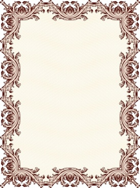 decorative border template elegant classical seamless symmetric repeating