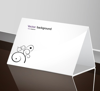 table card template elegant plain curved tree sketch