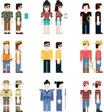 vector people cartoon styles
