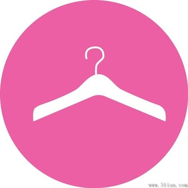 vector pink background hanger icon
