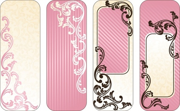 vertical tags templates classical pink decor