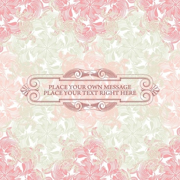 vector pink floral background