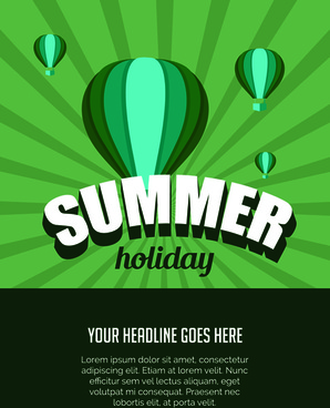 vector poster summer holidays design
