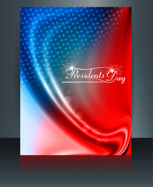 vector president day in united states of america brochure template design